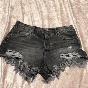 FREE PEOPLE | denim shorts size 26